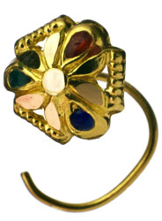 Enamelled Nose Pin