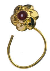 Flower Nose Ring with Meenakari