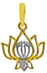 Lotus Feet of Lord Vishnu Pendant