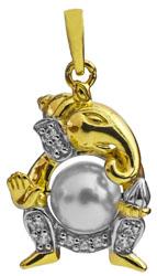 Lord Ganesha Pearl Pendant