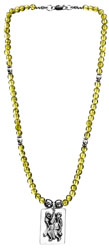 Lord Hanuman Peridot Necklace
