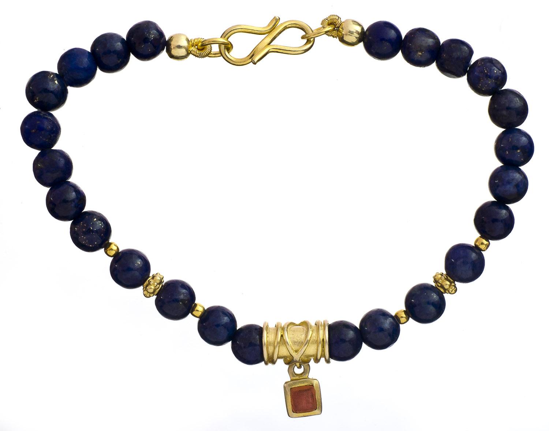 lapis lazuli gold plated bracelet. Black Bedroom Furniture Sets. Home Design Ideas