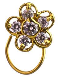 CZ Flower Nose Ring