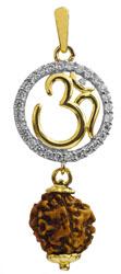 Rudraksha OM (AUM) Pendant