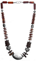 Carnelian Necklace With Iron Tiger Eye