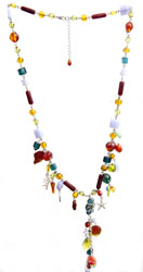 Multi-color Faux Gemstone Charming Necklace