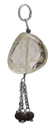 Chalcedony Pendant With Black Spinel