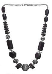 Black Onyx Fine Beaded Necklace