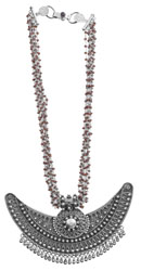 Faceted Garnet Designer Necklace