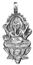 Kamalasana Ganesha Pendant