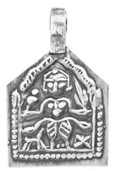 Tribal Goddess Kali Pendant