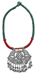 Lord Ganesha Cord Necklace with Charms