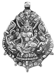 Devi the Great Goddess of India (Sterling Pendant)