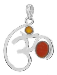 OM (AUM) Pendant with Gems