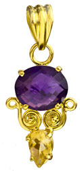 Gemstone Gold Plated Pendant