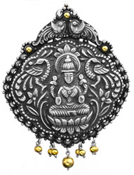 Goddess Lakshmi Pendant (South Indian Temple Jewelry)