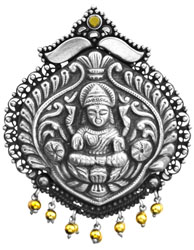 Devi Lakshmi Pendant (South Indian Temple Jewelry)
