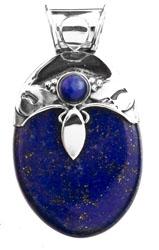 Twin Lapis Lazuli Pendant