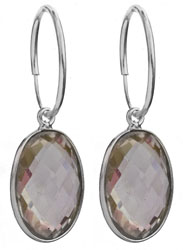 Hoop Earrings with Gemstone
