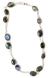 Faceted Labradorite Long Necklace