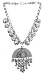 Necklace of Goddess Lakshmi with Ganesha