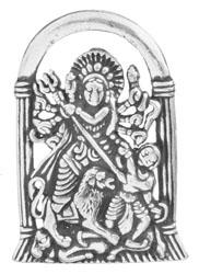 Mahishasura-Mardini Goddess Durga Pendant