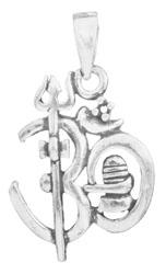 Trident OM (AUM) Pendant with Shiva Linga