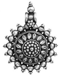 Flower Pendant (South Indian Temple Jewelry)