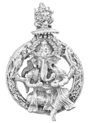 Four-Armed Twin Ganesha Pendant