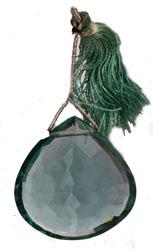 Faceted Green Fluorite Briolette (Price Per Piece)