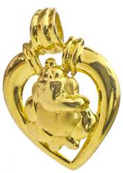 Lord Ganesha Piple Leaf Pendant
