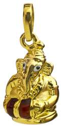 Lord Ganesha Playing Drum (Handcrafted Pendant)