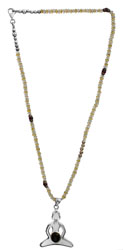 Yogi Chakra Necklace with Gems (Citrine, Rainbow Moonstone, Garnet and Black Onyx)