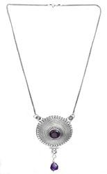 Amethyst Spiral Necklace