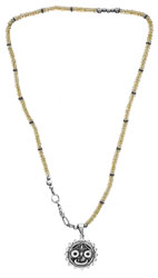 Lord Jagannath Necklace with Faceted Citrine