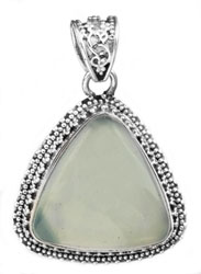 Triangle Gemstone Pendant with Granulation