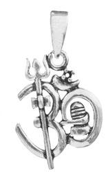 OM (Aum) Trident Pendant with Shiva Linga