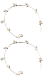 Anklets with Dangling Flowers (Price Per Pair)