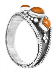 Triple Coral Ring