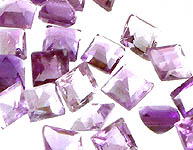 Amethyst mm Squares   (Price Per 10 Pieces)