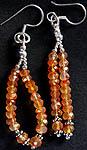Carnelian Israel Cut Shower Earrings