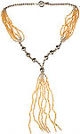 Citrine Beaded Necklace with Shower