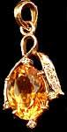 Designer Citrine Pendant with Diamonds