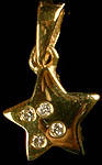 Diamond Star Pendant (Diamond = .04 Carats)