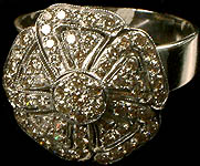 Diamond White Gold Finger Ring