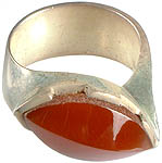 Faceted Carnelian Finger Ring