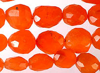 Faceted Carnelian Tumbles