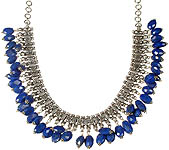 Faceted Lapis Lazuli Dangling Necklace