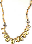 Faceted Lemon Topaz Necklace with Citrine