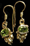 Fine Cut Peridot Earrings